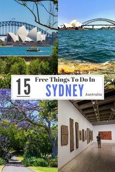 Here is a list of 15 free things to do in Sydney. Sydney should be on everyone's list of places to visit in Australia. It is a happening city with so much to do. You will never be bored. #Australia #Sydney #travelaustralia