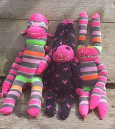 Deze schattige sokknuffels zijn gemaakt door Merel Maris, sofie en Fleur Onder begeleiding van Atelier Naaiz11