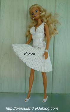 Mes créations robes au crochet pour Barbie ( 6)