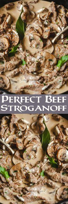 Perfect Beef Stroganoff
