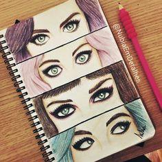 The Eyes of Katy Perry fanart by @NubiaEmDetalhes