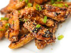 Hoisin Glazed Chicken Wings