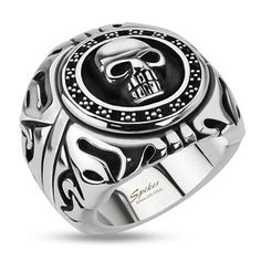 Stainless Steel Skull Shield Wide Cast Biker Ring High Quality Stainless Steel Band Width: Stainless Steel Skull Shield Wide Cast Ring Available sizes: Comes with a FREE Gift Box Gadgets, Mens Stainless Steel Rings, Skull Jewelry, Skull Rings, Men's Jewelry, Jewelry Watches, Male Jewelry, Wide Rings, Signet Ring