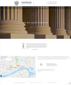 Kancelaria notarialna w Gorzowie  Wielkopolskim #notariusz #gorzow #law #webdesign #web #projektowanie #strony #kancelaria Web Design, Design Web, Website Designs, Site Design