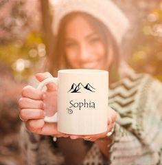 Campfires and cuddles custom coffee mug for nature lovers. Grandma Gifts, Gifts For Mom, Campfires, Secret Santa Gifts, Handmade Design, Cuddles, Mug Designs, Fall Halloween, White Ceramics
