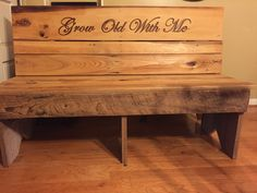 Barn wood guest book bench