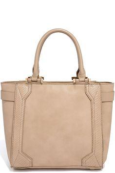 Chic Taupe Handbag - Structured Handbag - Vegan Leather Handbag - $49.00