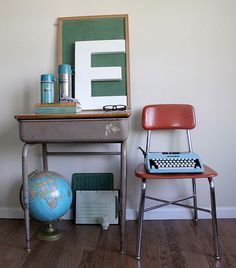 vintage school decor...