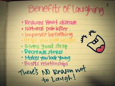 I knew there was a good reason to why I laugh so much! =)