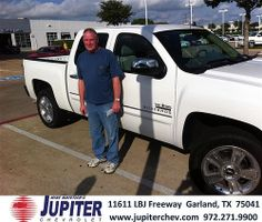 Jupiter Chevrolet would like to say Congratulations to Emily Klein on the 2013 Chevrolet Silverado 1500 from Jace Stevens