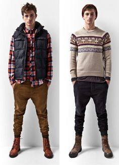 Fall fall fall fall - sweaters and vests, but not sweater vests.