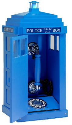 Tardis Telephone.... it doesn't seem to be the right color but awesome all the same