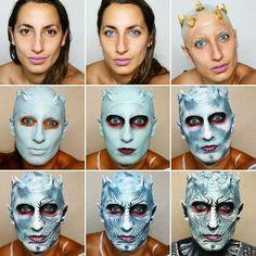 The Night King White Walker - Step by Step Makeup Tutorial - @sarahmagicmakeup (instagram) - Magic Makeup With Sarah (youtube)