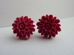 Magenta Shimmer Polymer Clay Chrysanthemum by KristalsKreations20, $6.00