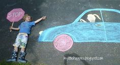 A Beautiful Mess Chalk Photography, Chalk Pictures, First Day Activities, Photos Originales, Sidewalk Chalk Art, Photo Store, Capture Photo, Chalk Drawings, Foto Art