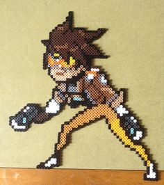 Tracer - Overwatch perler beads by patlife32