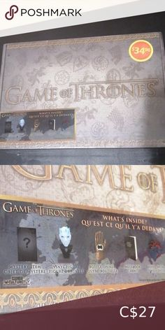 """Game of Thrones """"what's insides? SEALED NOT OPEN STILL ON TAGS GAME OF THRONES 5 ITEMS NOTEBOOK/VINYLS DECAL MYSTERY ITEMS game of thrones Other Norwex Window Cloth, Game Of Thrones 5, Kim Stanley Robinson, Dark Tide, New Baby Pictures, Shoe Holders, Inside Shop, White Clocks, Led Ring Light"""
