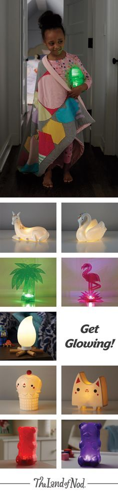 There's no reason for your kids to be afraid of the dark when they have a nightlight from The Land of Nod. From woodland animal nightlights and gummy bears to acrylic shapes, there are tons of stylish options for your kids bedroom. Hang them on a wall or set them on a dresser for a decorative accent.