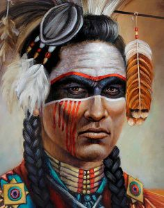 Native Americans Indians Although this is a painting it reminds me of Neosho. Scarey!