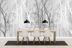 Wander Trees Charcoal - Wall Mural by Photowall