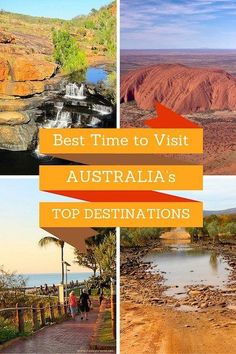 When is the best time to visit Australia and its top destinations? Here is a guide that shows you how to plan your trip to Australia and make the most of your itinerary by choosing the right time of the year for travelling around Australia. Australia Travel Guide, Moving To Australia, Visit Australia, Melbourne Australia, Australia Trip, Western Australia, Cook Islands, Fiji Islands, Brisbane