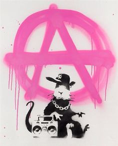 View Anarchy rat by Banksy on artnet. Browse upcoming and past auction lots by Banksy. Street Art Banksy, Graffiti Art, Banksy Rat, Bansky, Banksy Tattoo, Banksy Artwork, Graffiti Tagging, Rustic Frames, Thing 1
