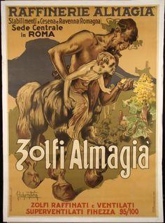 Zolfi Almagia Original Vintage Poster Hohenstein 1950 ?