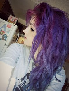 I want purple hair for fall i think  30 Shades Of Purple Hair