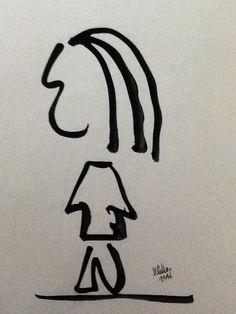Home , dibuix a tinta sobre paper