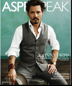 In the best Winter/Spring issue of Aspen Peak Magazine, celebrity Johnny Depp covers while artist Cindi Rose silhouettes guests at a chic invitation only luncheon with 30 of the town's most elite.