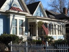 victorian cottage four-season front porch - Google Search