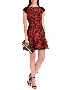 Jacquard dress Jacquard dress - Black   Dresses   Ted Baker