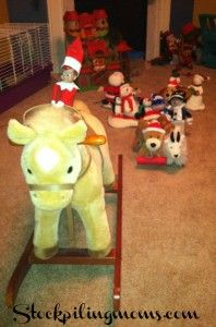 It is a stuffed animal parade led by our Elf! The kids loved this one!