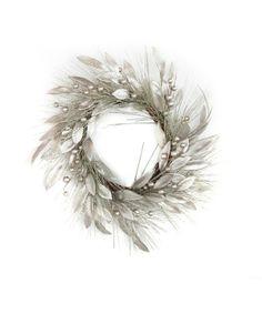Frosty winter wreath