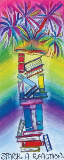 2014 Teen Summer Reading Art Contest Winner: Bookmark by Audrey Poling, age 17, Denver School of the Arts