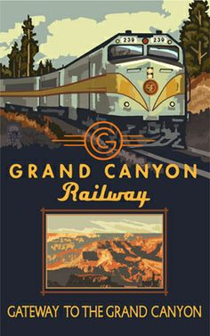 PAL-3212 Grand Canyon Railway Diesel Train - Northwest Art Mall