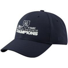 New Era New York Yankees Navy Blue 2009 World Series Champions 27-Time Champions Wool Blend Structured Adjustable Hat