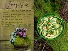 Forest Feast Spring Salad via Miss Moss