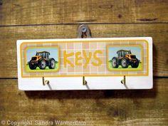 Handmade Key Hook JCB - Handmade Wooden Key Hook