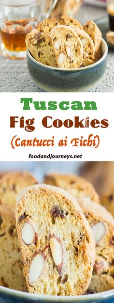 Tuscany's trademark almond cookies, with dried figs for additional sweetness! Great for dessert, snack or even breakfast!