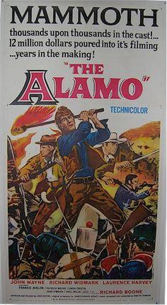 """Alamo"" Original 3 Sheet Linen Backed, John Wayne movie posters & memorabilia.  See John Wayne Collection: http://www.cvtreasures.com/hollywood-legends-gallery-john-wayne-memorabilia-c-101_156   $950"