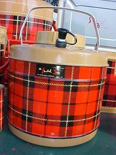 Skotch Kooler Plaid Vintage Picnic Ware