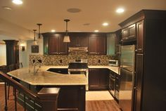 Oconnor Basement - traditional - kitchen - detroit - by Plan-2-Finish, Inc.