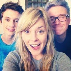 Troye Sivan, Grace Helbig, & Tyler Oakley #troyler