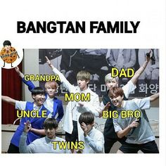 Actually Jimin and Tae are the 'twins' (even in family fanfics actually).Kookie is Baby Bun. Bts Taehyung, Bts Bangtan Boy, Bts Jungkook, Namjoon, Hoseok, Foto Bts, Bts Photo, Bts Memes Hilarious, Bts Funny Videos