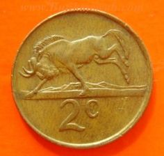 2 cents coin South Africa 1984
