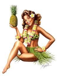 Vintage Hawaiian pinup