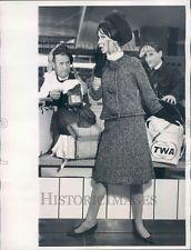 1961 Rome Italy Laura Aponte Travel Suit Press Photo ner30977