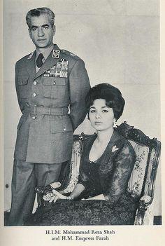 King Mohammad Reza Pahlavi and queen Farah Pahlavi (Diba) of Iran. King Queen Princess, Divorce, King Of Persia, Pahlavi Dynasty, The Shah Of Iran, Farah Diba, Persian Pattern, Leila, Iranian Women