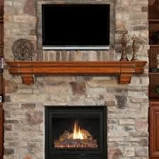 stone fireplace flanked by bookshelves - Google Search